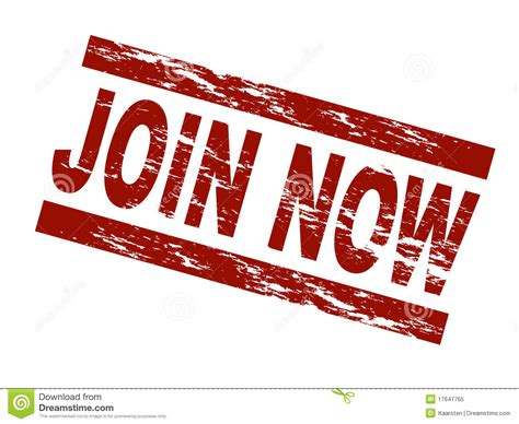 all join in red 0099964708 join now royalty free stock photo image 17647765
