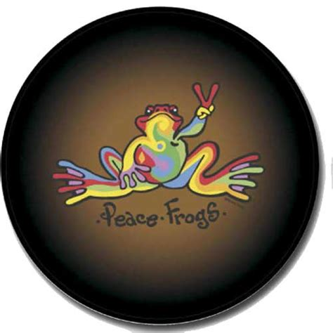 Jeep Spare Wheel Covers All Things Jeep Closeout Multi Colored Peace Frogs