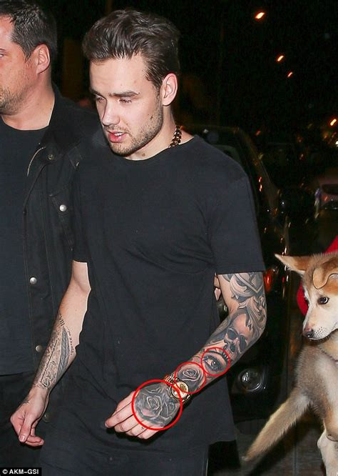 liam payne shows off tattoo of pregnant girlfriend cheryl liam payne hits west hollywood for a night of partying