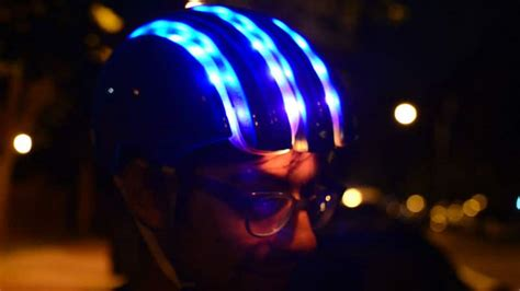 light up bike helmet diy smart cycling helmet with gps and compass for