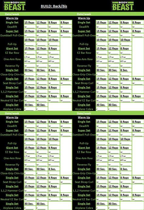beast workout sheet 1000 ideas about workout sheets on beast