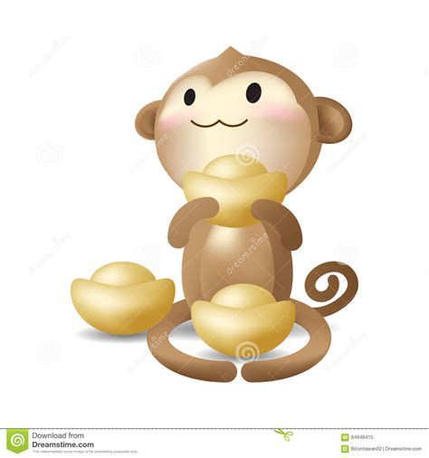new year monkey characters new year monkey character vector stock vector