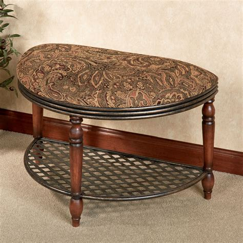 half moon bench cierra upholstered half moon bench