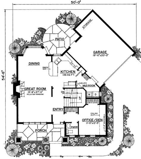 Unique Floor Plans For Homes | plan 43040pf unique floor plan hides garage bedrooms