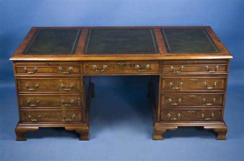 Small Antique Desks For Sale Antique Style Walnut Pedestal Desk For Sale Antiques Antique Reproduction Desks