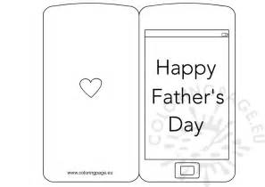 fathers day template s day card smartphone coloring page