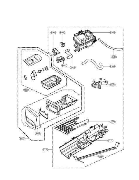lg dryer parts diagram lg dryer panel drawer assembly parts model dlex2801l