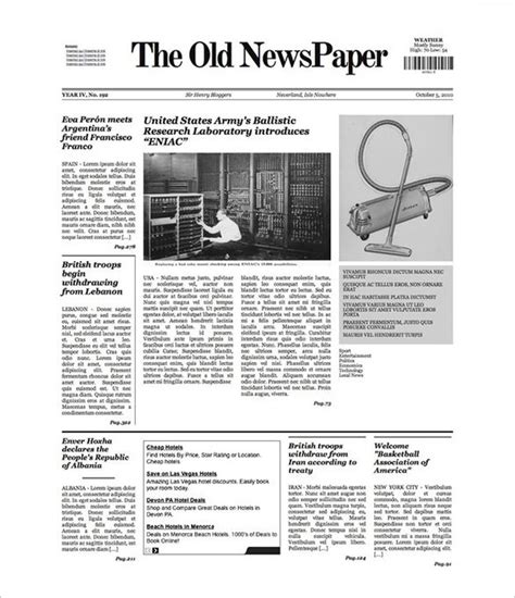 newspaper templates free free newspaper template 10 blank docs word