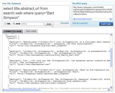 yql format html cross domain communications with jsonp part 2 building