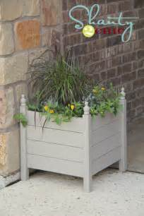 planters diy ana white square planters with finials diy projects