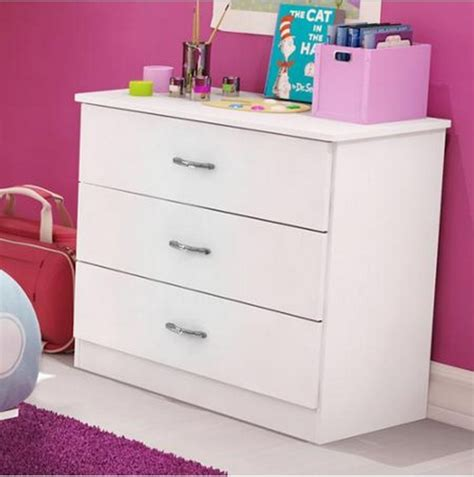 Youth Bedroom Dressers New 3 Drawer Chest Dresser Nightstand Bedroom Furniture White Ebay