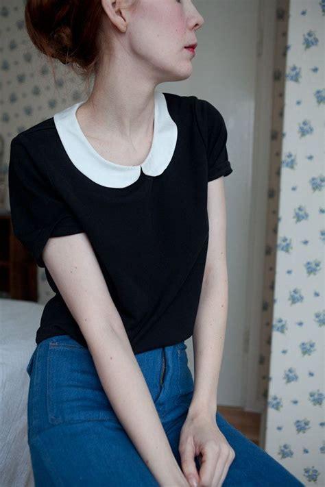 Pleast Peterpan Cropped Shirt best 25 black collared shirt ideas on soft grunge collared shirt and