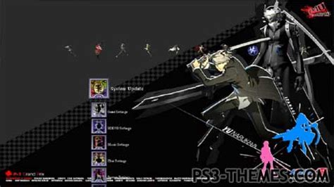 theme psp persona 3 ps3 themes 187 persona 4 ultimate arena ps3 theme