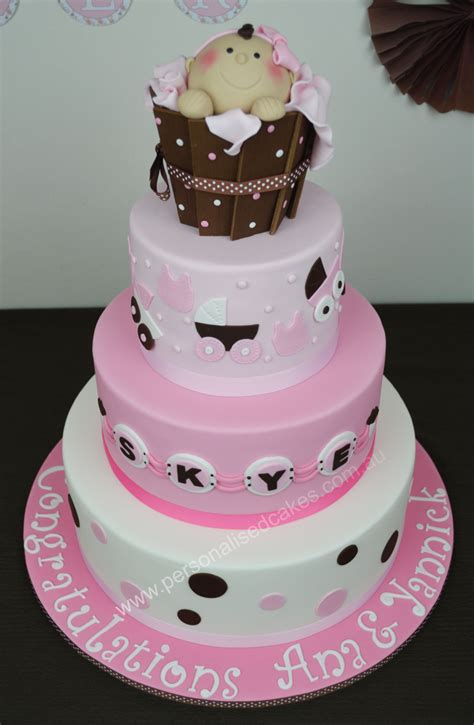 tiered baby shower cakes 3 tier baby shower cake personalised cakes au