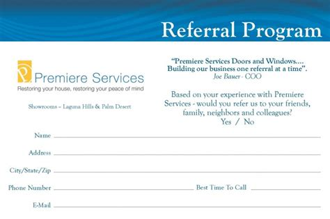 referral cards template quotes for business referral cards quotesgram