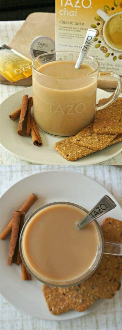 make this easy tazo 174 chai tea latte recipe at home