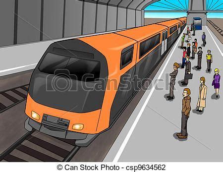 treno clipart stazione treno persone treno illustrazione attesa
