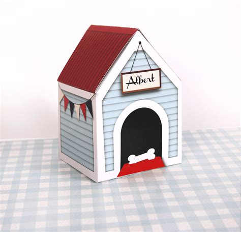 custom dog houses personalized custom dog house treats box by paperscissorspop
