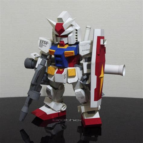 Gundam Papercraft Template - papercraftsquare new paper craft detailed sd rx 78 2