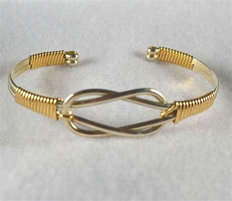 Bracelet TUTORIAL Wire wrapped Cuff pdf Knotted