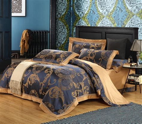 King Size Luxury Bedding Sets Silk And Cotton Fabric Luxury Jacquard King Size