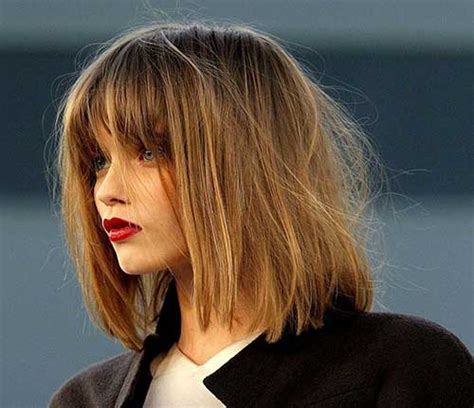 blunt shag 15 cool shaggy bob with bangs bob hairstyles 2017