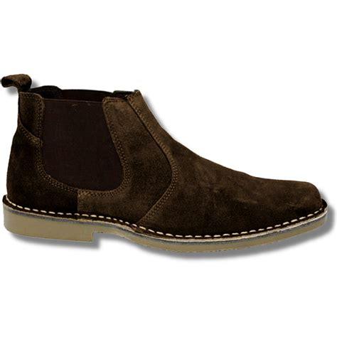 new roamers mod suede rubber sole slip on desert boots