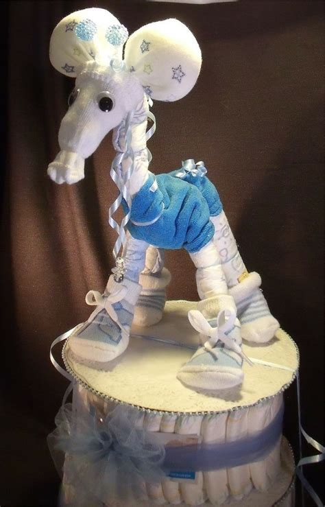 Giraffe Centerpieces For Baby Shower by Baby Boy Giraffe Cakes Blue Giraffe Baby Shower
