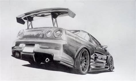 nissan gtr skyline drawing nissan skyline drawing www pixshark com images