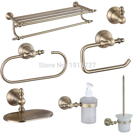 vintage bathroom hardware 2016 wholesale luxury european 7 pcs brass bath hardware