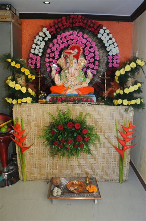 pin  deepak patil  ganapati decor ganapati