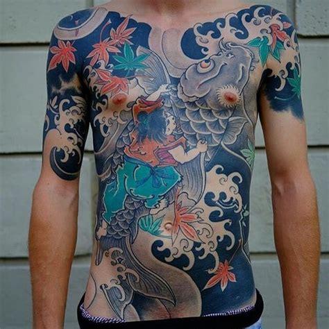 koi tattoo with samurai 49 koi fish tattoo designs with meanings