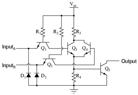 ttl integrated circuit logic ttl nor and or gates logic gates electronics textbook