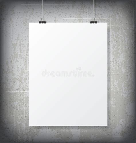 hanging poster stock illustration image 55507025 poster mock up stock vector image 42776935