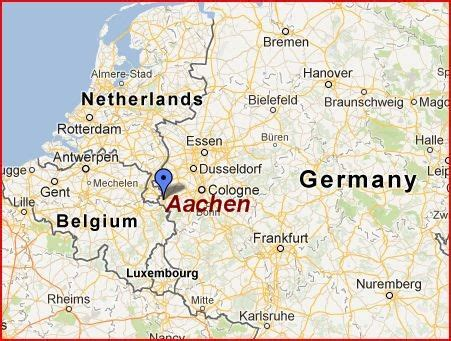 map netherlands belgium germany aachen germany the ancient capital of the holy