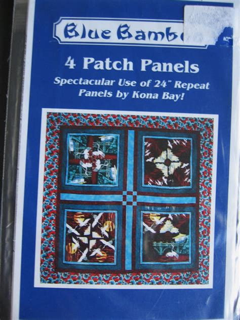 Blue Bamboo Quilt blue bamboo 4 patch panels quilt pattern by kona bay uc