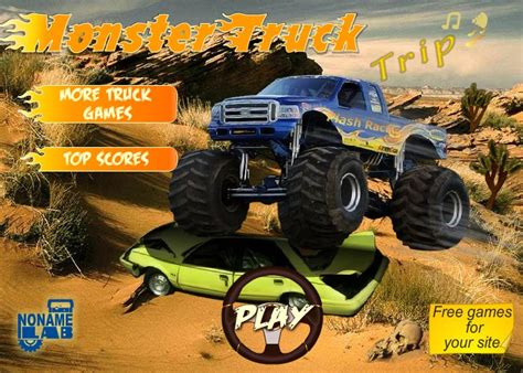 monster truck car racing games monster truck trip funny car games