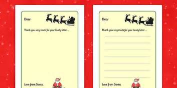 Letter From Santa Writing Frames Christmas Xmas Letter Letter To Template Eyfs