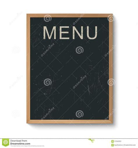 menu board template restaurant menu board in a wooden frame stock vector