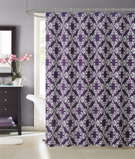 Purple medallion faux silk fabric bathroom shower curtain w hooks florence ebay