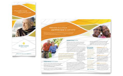 Assisted Living Brochure Template Word Publisher Living Flyer Template