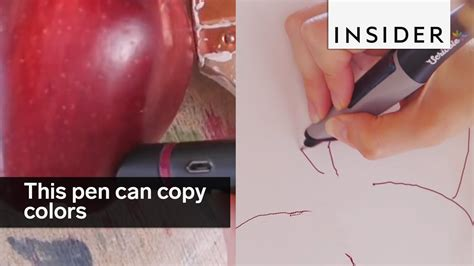 pen that changes color this pen copies the colors around you and lets you draw