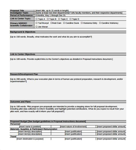 pilot project plan template 8 sle program templates to sle