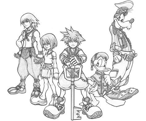 kingdom hearts coloring pages online kingdom hearts goofy characters yumiko fujiwara