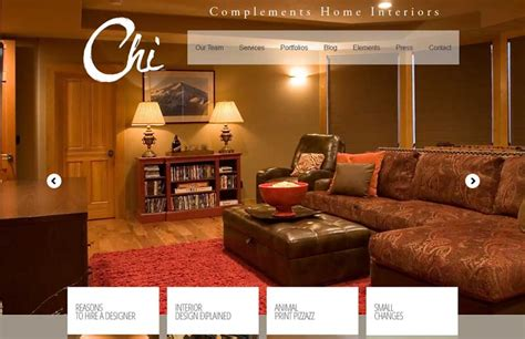 complements home interiors fresh web design created by bend oregon web agency designer elise michaels