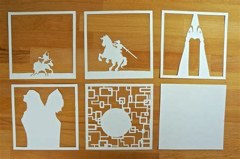 Otaku Crafts Paper Lightboxes Zelda Studio Ghibli More Shadow Box Template