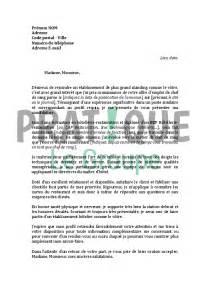 lettre de motivation pour un de chef de rang