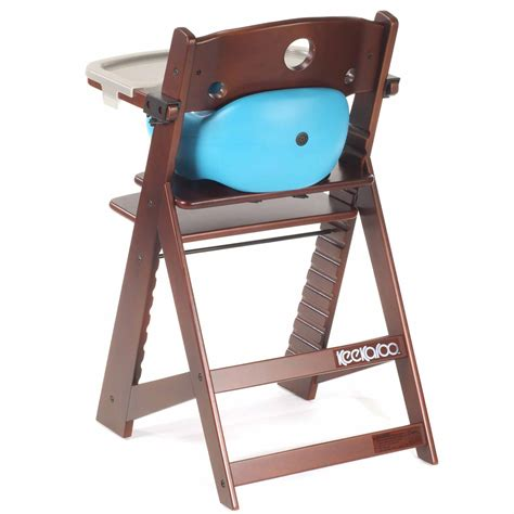keekaroo high chair keekaroo height right wooden high chair with infant insert