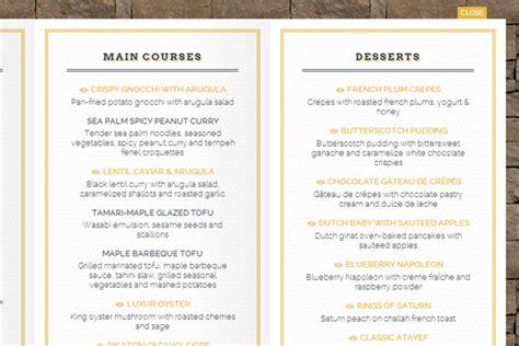 design menu tutorial food restaurant bar website layout menu animated user