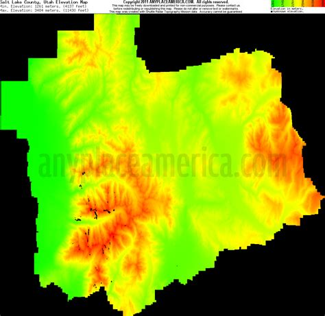 utah elevation map free salt lake county utah topo maps elevations